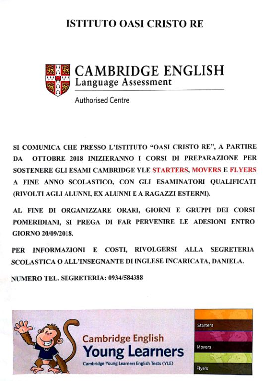 Cambridge-English---Istituto-Oasi-Cristo-Re---Caltanissetta-(CL)